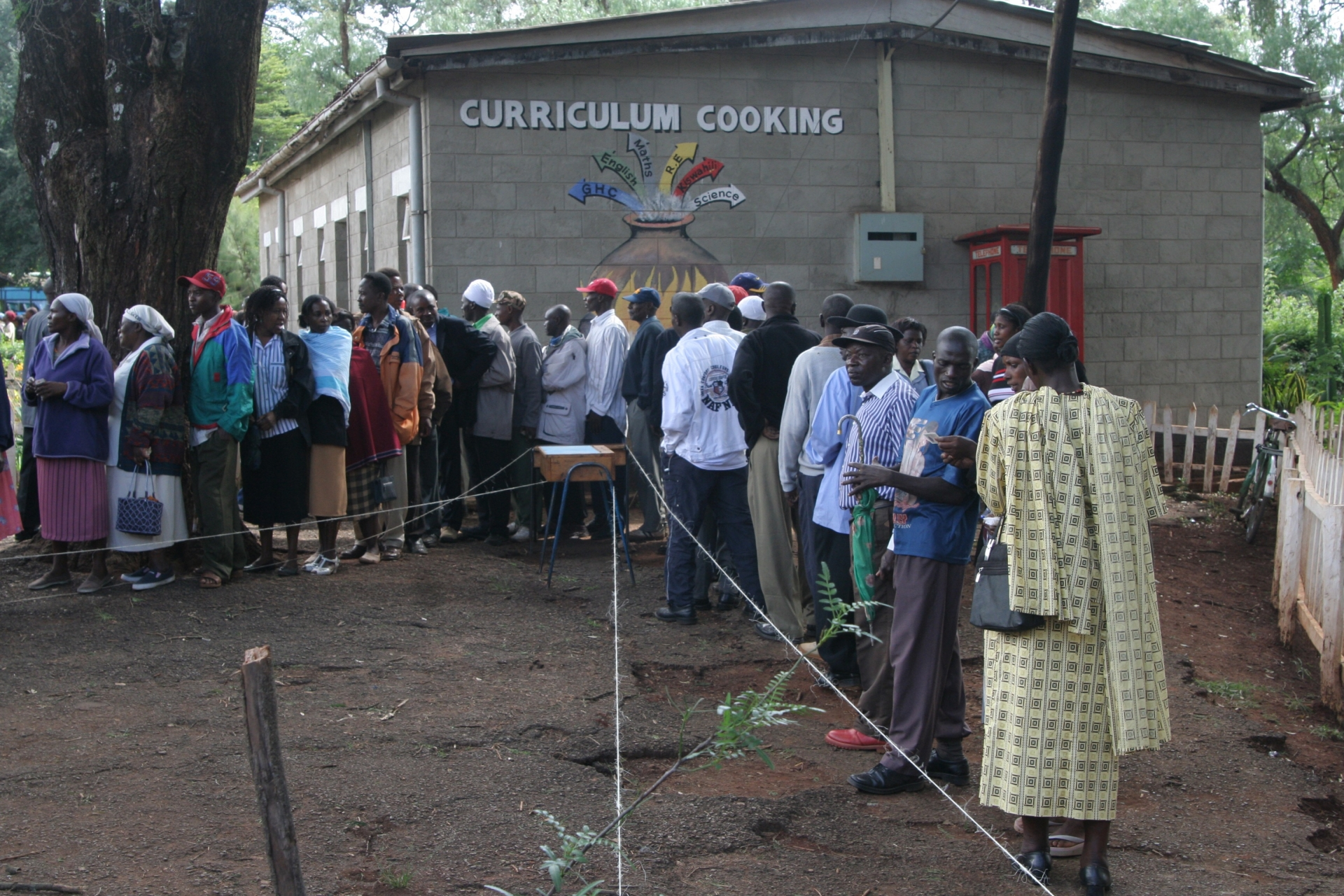 voting Lavington Nairobi Kenya school 2007 election