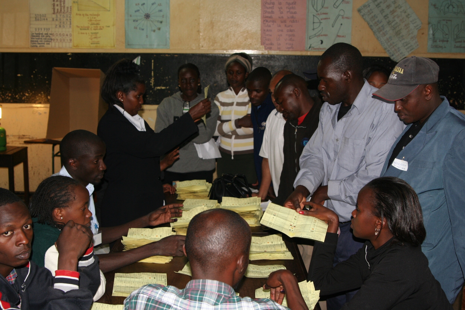Kenya election vote counting Westlands Nairobi